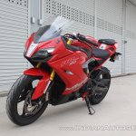 TVS Apache RR 310 first ride review front left quarter