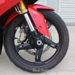 TVS Apache RR 310 first ride review front suspension