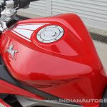 TVS Apache RR 310 first ride review fuel tank detail