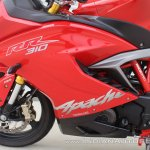 TVS Apache RR 310 first ride review left side fairing