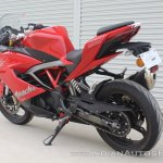 TVS Apache RR 310 first ride review rear left quarter