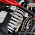 TVS Apache RR 310 first ride review rear monoshock