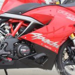 TVS Apache RR 310 first ride review right side fairing