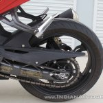 TVS Apache RR 310 first ride review swingarm