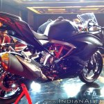 TVS Apache RR 310 rear three quarters