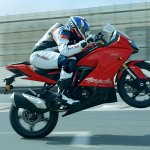 TVS Apache RR 310 side wheelie
