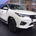 Toyota Fortuner TRD Sportivo front three quarters at 2017 Thai Motor Expo
