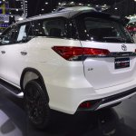 Toyota Fortuner TRD Sportivo rear three quarters left side at 2017 Thai Motor Expo