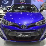 Toyota Yaris Ativ S front at 2017 Thai Motor Expo