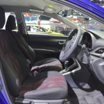 Toyota Yaris Ativ S front seats at 2017 Thai Motor Expo