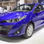 Toyota Yaris Ativ S front three quarters at 2017 Thai Motor Expo