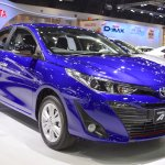 Toyota Yaris Ativ S front three quarters right side at 2017 Thai Motor Expo