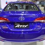 Toyota Yaris Ativ S rear at 2017 Thai Motor Expo