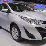 Toyota Yaris Ativ front three quarters at 2017 Thai Motor Expo