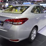 Toyota Yaris Ativ rear three quarters right side at 2017 Thai Motor Expo