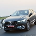 Volvo XC60 test drive review front angle left front three quarters motion