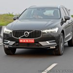 Volvo XC60 test drive review front angle tracking shot