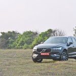 Volvo XC60 test drive review front three quarters far