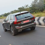 Volvo XC60 test drive review rear angle motion shot