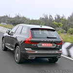 Volvo XC60 test drive review rear angle tracking shot