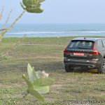 Volvo XC60 test drive review rear three quarters far