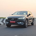 Volvo XC60 test drive review tracking shot