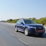 2018 Audi Q5 test drive review action shot