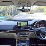 2018 Audi Q5 test drive review dashboard