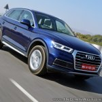 2018 Audi Q5 test drive review front action shot tilt