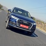 2018 Audi Q5 test drive review front action shot