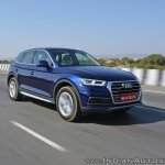 2018 Audi Q5 test drive review front angle motion