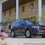 2018 Audi Q5 test drive review front three quarters low