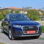 2018 Audi Q5 test drive review front three quarters view