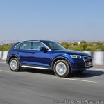2018 Audi Q5 test drive review side anlge motion