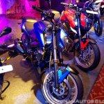 2018 Bajaj Dominar 400 unveiled blue front suspension