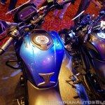 2018 Bajaj Dominar 400 unveiled blue fuel tank