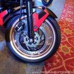 2018 Bajaj Dominar 400 unveiled red front wheel