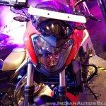 2018 Bajaj Dominar 400 unveiled red headlight