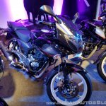 2018 Bajaj Pulsar 220F Black Pack Edition showcased front right quarter