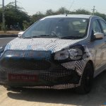 2018 Ford Aspire (facelift) front three quarters spy shot