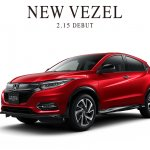 2018 Honda Vezel (2018 Honda HR-V) facelift front three quarters