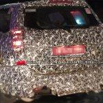 2018 Mahindra XUV500 (facelift) rear three quarters left side spy shot