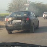 2018 Maruti Ciaz facelift spy shot rear angle