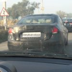2018 Maruti Ciaz facelift spy shot rear view