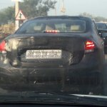 2018 Maruti Ciaz facelift spy shot rear