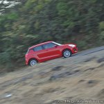2018 Maruti Swift test drive review action shot side