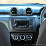 2018 Maruti Swift test drive review centre console