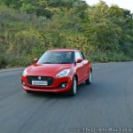 2018 Maruti Swift test drive review front angle motion
