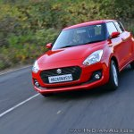 2018 Maruti Swift test drive review front angle tracking