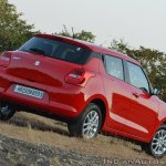 2018 Maruti Swift test drive review rear angle tilt